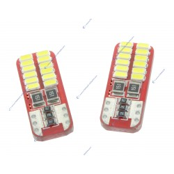2 x AMPOULES 24 LEDS (3014) CANBUS - T10 W5W