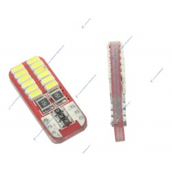 2 x LAMPEN 24 LEDS (3014) CANBUS - T10 W5W