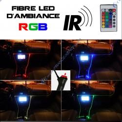Pack fibre d'ambiance LED RGB controlé par télécommande - 5m