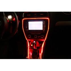 LED-Auto-Atmosphäre-Lichter 5M mit Zigarettenfeuerzeug RGB-optisches Faseratmosphärenlicht Selbstdekoration