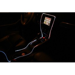 LED Car Atmosphere Lights 5M with cigarette lighter RGB optical fiber atmosphere light Auto Decoration led bulb