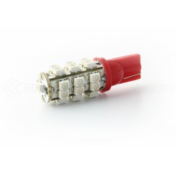 2 x 25 red bulbs LED - SMD LED - T10 W5W