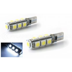 2 x AMPOULES 13 LEDS SMD CANBUS - T10 W5W