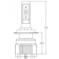 2 x Ampoules H7 XL6S 55W - 4600Lm - Courtes - 12V/24V