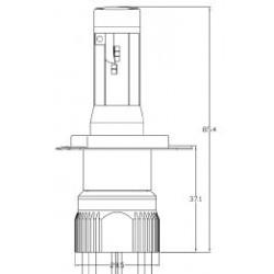 2 x Birnen H4 Bi-LED XL6S 55W - 4600Lm - 12/24V