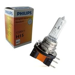 Ampoule H15 Philips 55/15W Origine 12580 PGJ23t-1
