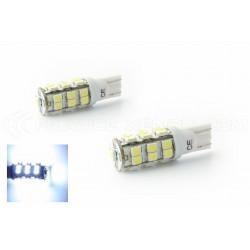 2 x BULBS 25 LEDS WHITE - LED SMD - T10 W5W