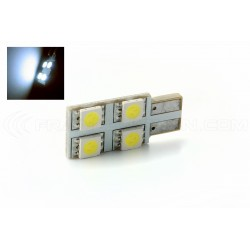 Bulb 4 SMD oneside pure white - T10 W5W
