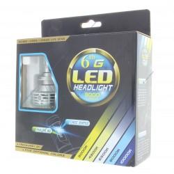 2 x bulbs HB4 9006 hp 6g 55w - 3000lm - 6500k - 12/24 vdc