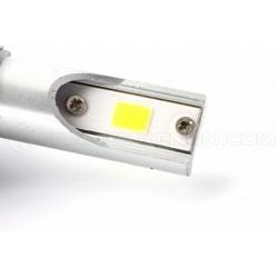 2 lampadine a LED x H8 H11 ventilato cob c6 - 3800lm - 12v / 24v