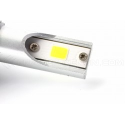 2 x LED bulbs h8 h11 ventilated cob c6 - 3800lm - 12v / 24v