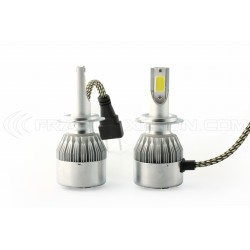 2 x LED bulbs h7 ventilated cob c6 - 3800lm - 12v / 24v