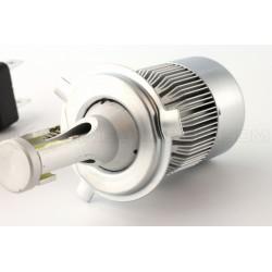 2 x lampade h4 bi-ventilato cob guidato c6 - 3800lm - 12v / 24v