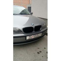 2x Grilles de calandre BMW E46 - Série 3 - 2 portes - 98-01 noir