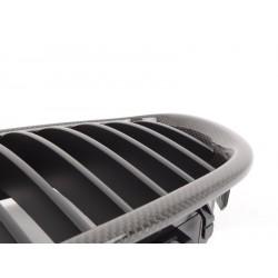 2x Grilles de calandre BMW E60 E61 serie 5 03-10 CARBONE