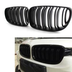2x Gitter Kühlergrill BMW E87 Januar 07 bis 11 schwarz glänzend