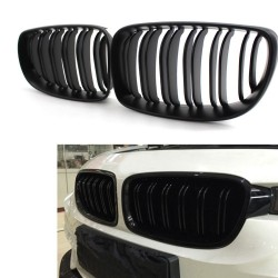 2x grids grille BMW E87 07-11 1 gloss black