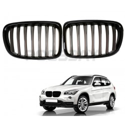 2x Grilles de calandre BMW E84 X1 Noir Brillant