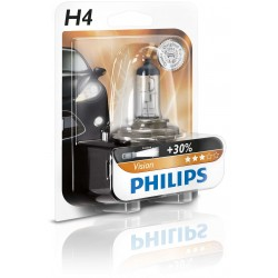 AMPOULE H4 PHILIPS VISION +30% 60/55W P43t-38 12342PRB1