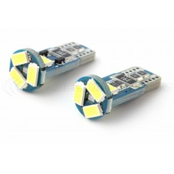 2 x AMPOULES 5 LEDS (5730) CANBUS SAMSUNG - T10 W5W