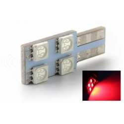 Bulb 4 SMD oneside red - T10 W5W