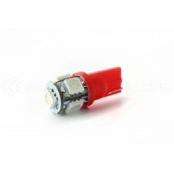 Lampadine 2 x 5 LED rosso - SMD - 5 LED-T10 W5W