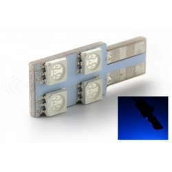 Birne 4 SMD oneside blau - T10 W5W