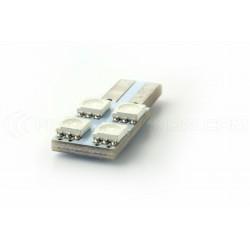 LAMPADINA 4 SMD ONESIDE Blu - T10 W5W