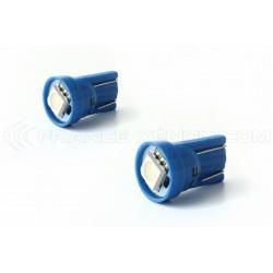 2 x Leuchtmittel 1 LED SMD BLAU - T10 W5W