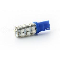 2 x Ampoules T10 25 LEDS BLEUES - LED SMD - T10 W5W