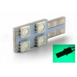 Bulb 4 SMD oneside green - T10 W5W