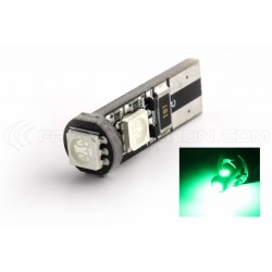 BULB 3 LEDS SMD CANBUS GREEN - T10 W5W