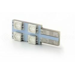 LAMPADINA 4 SMD ONESIDE Verde - T10 W5W
