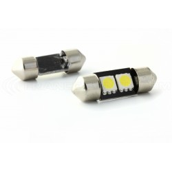 Festoon bulb 28 mm - 2 Leds SMD C3W  Error Free