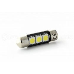 Lampada Led Siluro C5W C7W - 3 SMD No Errore - Siluro 37 mm