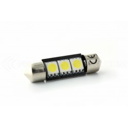 1 x Glühlampe 3 LED smd CANbus- - Shuttle C5W - c7w 37mm