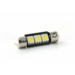 Festoon bulb 37 mm - 3 Leds SMD C5W C7W Error Free