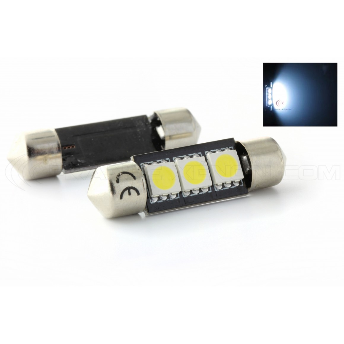 2 x BULBOS C5W C7W - 3 SMD anti-error - Shuttle 37mm