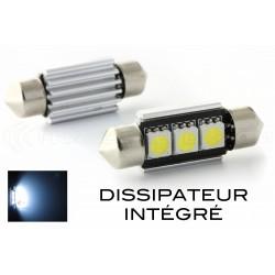 2 x Lampade Led a Siluro Canbus C5W C7W - 37 mm 3 SMD Luci  targa con dissipatore - No Errore