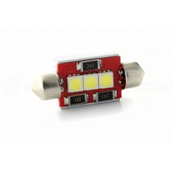 1 x LED 37mm - white - r-LED C5W / c7w - 3 ss canbus