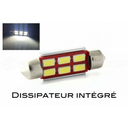 1 x LED 37mm - Blanc - R-LED C5W / C7W - 6 SS CANBUS