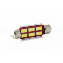 1 x LED 37mm - White - R-LED C5W / C7W - 6 SS CANBUS
