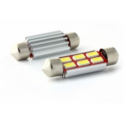 1 x LED 37mm - weiß - r-LED C5W / c7w - 6 ss CANbus-