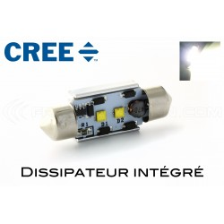37mm LED-Lampe 2 Cree - weiß - C5W / c7w - CANbus