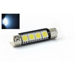 Festoon bulb 42 mm - 4 Leds SMD C10W  Error Free