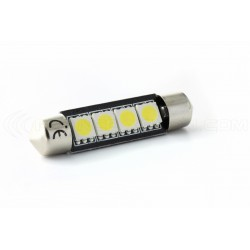 Lampada Led Siluro  C10W - 4 SMD No Errore - Siluro 42 mm