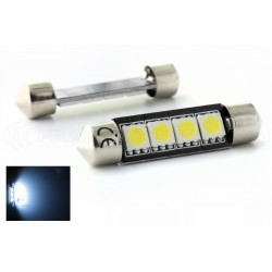 2 x bulbs C10W - 4 anti-smd LED error - Shuttle C10W 42mm