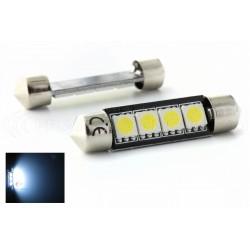 2 x Festoon bulb 42 mm - 4 Leds SMD C10W Error Free