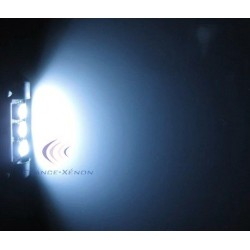 Lampada Led a Siluro Canbus C10W - 42 mm 3 SMD Luci  targa con dissipatore - No Errore