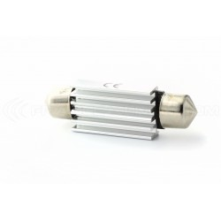 2 x Festoon bulb 42 mm - with 4 Leds SMD C10W  Error Free and Heat Sink